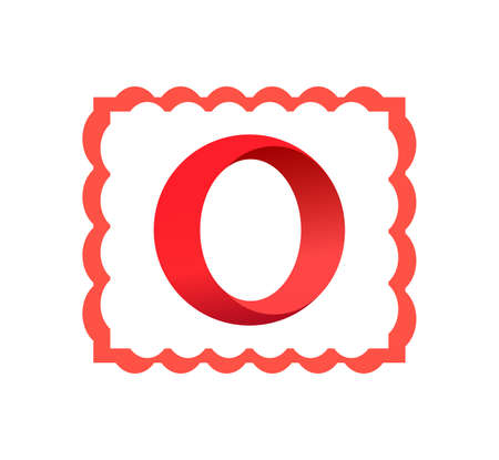 Opera logo. Opera innovative famous browser for internet download. Opera app . Kharkiv, Ukraine - June , 2020