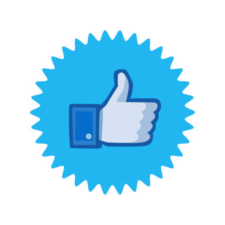 Facebook thumbs up sign. Facebook is a well-known social networking service. Facebook icon . Kharkiv, Ukraine - June, 2020