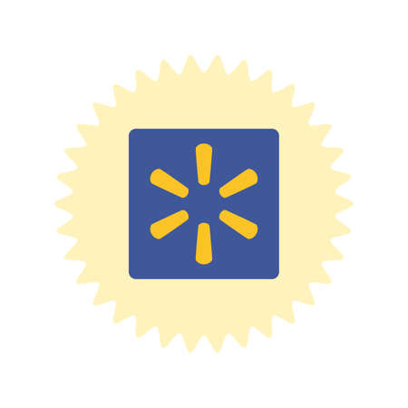 Walmart logo. Walmart app icon. Walmart.com is multinational retailing corporation . Kharkiv, Ukraine - June, 2020