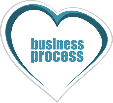 business process word. Management concept