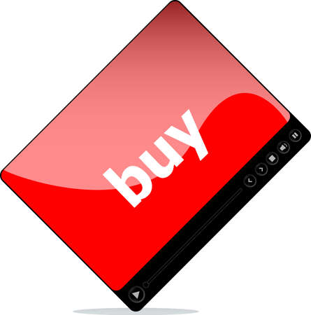 Video media player for web with buy word