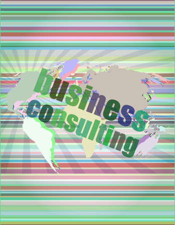 words business consulting on digital screen, business concept