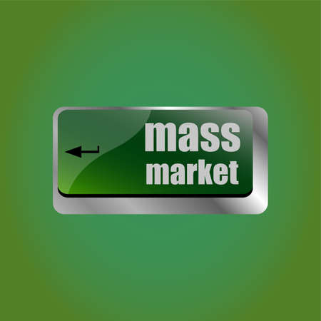 Marketing concept. computer keyboard keys with word Mass Market