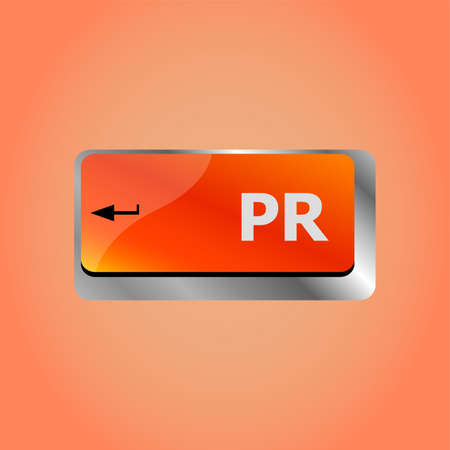 PR marketing concept. computer keyboard with word Public Relations
