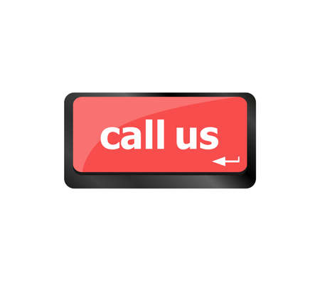 Keyboard keys with call us, business concept