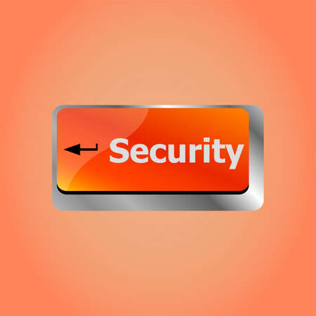 security button on the keyboard key, business concept