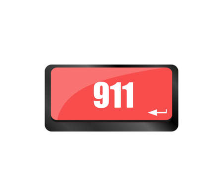 Computer keyboard keys with the 911 text