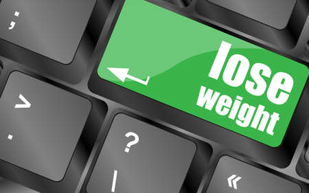Lose weight on keyboard key button