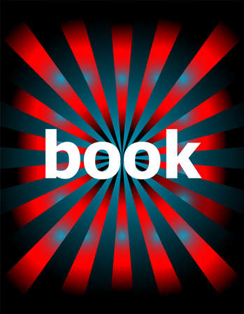 book word on digital touch screen. education concept . Motion rays on abstract background