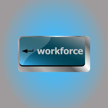 Workforce keys on computer keyboard - business concept