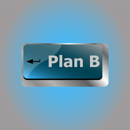 Plan B key on computer keyboard - business concept 스톡 콘텐츠