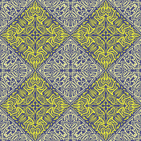 Trendy seamless mandala. Hand drawn vector background. Seamless abstract pattern, diwali, fabric texture, wrapping.
