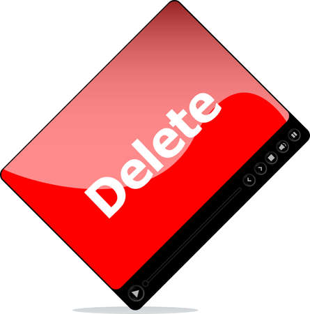 Video media player for web with delete word