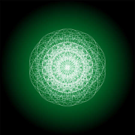 Round White Mandala . Mandala guiiloche spirographic elements for design.