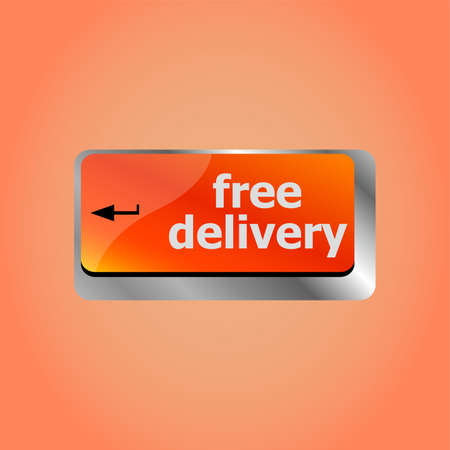 free delivery key on laptop keyboard button Banco de Imagens