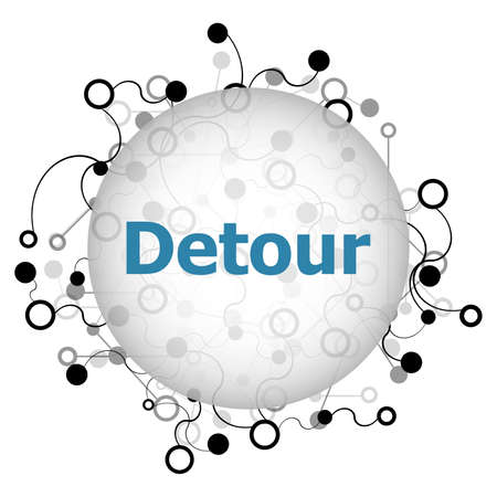 Text detour. Business concept . Abstract geometric background with lines, circles and dots