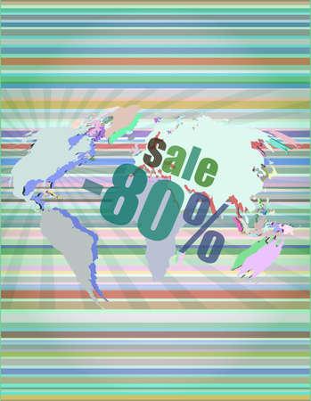 Management concept: sale words on digital screen