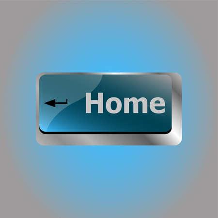 Computer keyboard with home key - internet concept 版權商用圖片