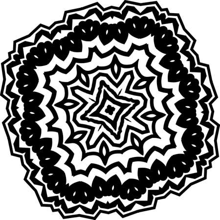 Mandala for greeting card, case print, etc. Abstract pattern. Diwali pattern black and white. Vector illustration Vector Illustratie