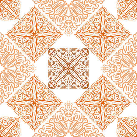 Seamless abstract pattern. Hand drawn vector background. Trendy seamless mandala, fabric texture, wrapping.