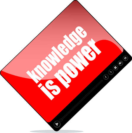 Video player for web with knowledge is power words