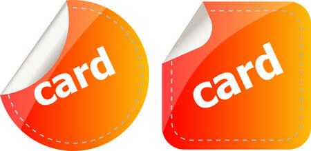 card word stickers set, web icon button Stock Photo