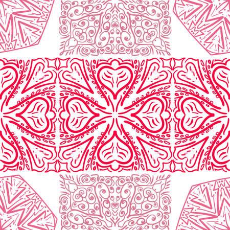 Seamless mandala. Abstract pattern floral diwali ornament. Vector illustration