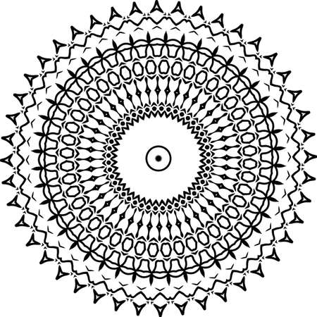 Mandala for greeting card, case print, etc. Abstract pattern. Diwali pattern black and white. Vector illustration