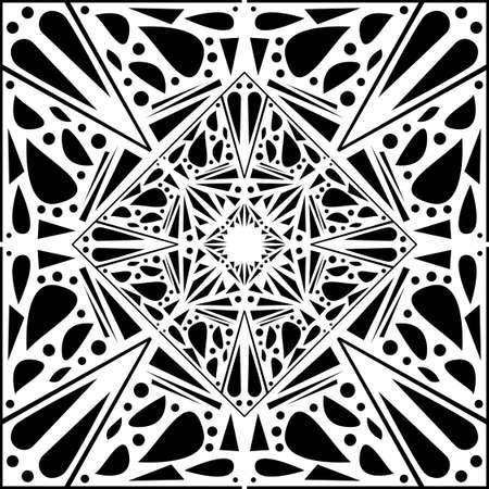 Ornamental diwali pattern. Mehndi mandala, Indian Henna. Black and white tattoo design or pattern. Vector illustration