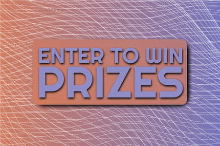 Enter to win prizes. Giveaway social media contest. Winning prizes in contest, giving gifts. Share to win post in social media. Marketing and advertising vector illustration
