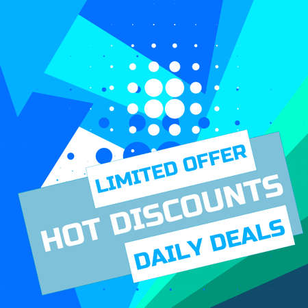 Flash sale discount banner template promotion. Limited offer. Hot discount. Daily Deals. Sale banner template design, Super Sale special offer banner. Vector illustration.