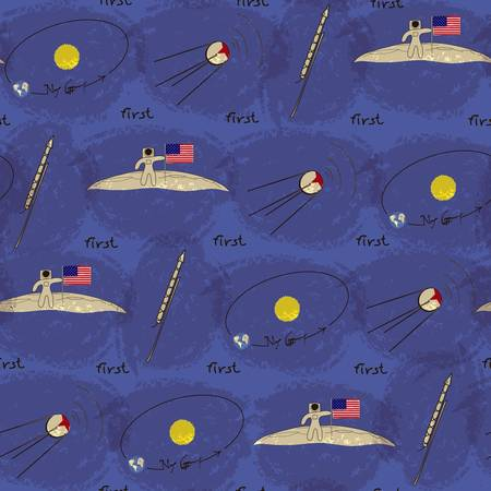 Vector background for children on the space theme Vector
