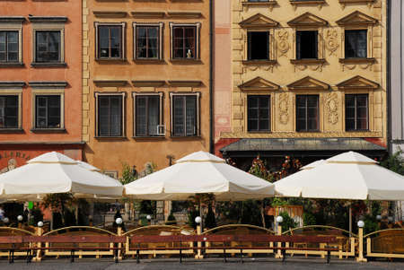 Early morning shot of the Rynek Square buildings.