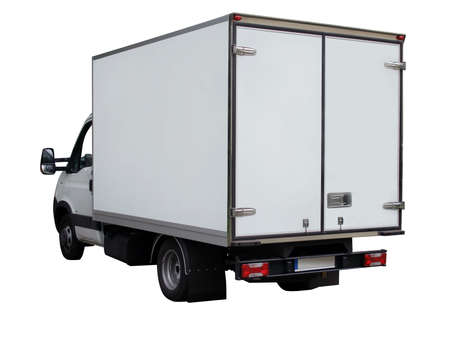 Cargo white van  on white background Stock Photo