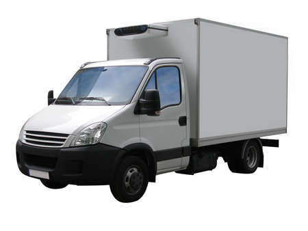 white van with cut out path