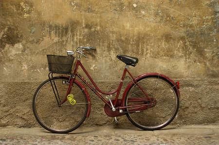 old women italian bike       Stock Photo