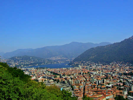 view of the Como city from Baradello hill