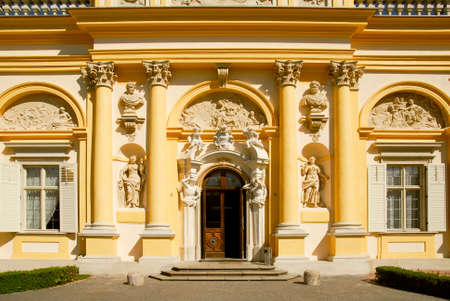 Warsaw Wilanow palace east entrance in the morning Stock Photo