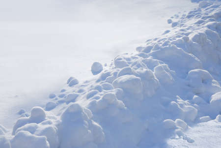 Winter snow on side road. Fresh, clean, white. Stock Photo - 1686638