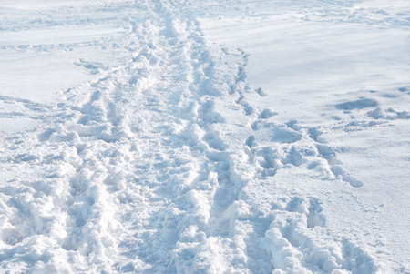 Snowed path in winter time Stock Photo - 1686641