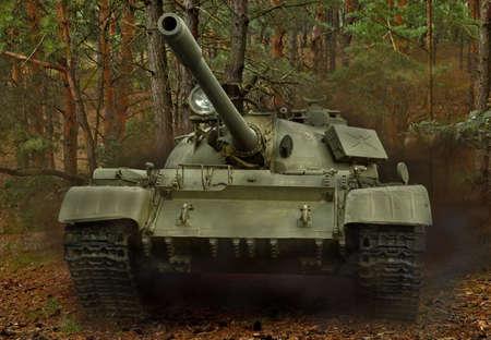 Russian T-55 tankin action