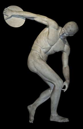 Replica van een tot een discuswerper beroemde Griekse beeldhouwkunst Stockfoto - 3031128