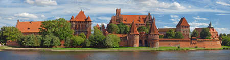 View on old german castle in Malbork. Stock Photo
