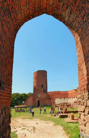 Ruined castle in Czersk.