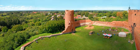 Ruins of medieval castle in Czersk near Warsaw.