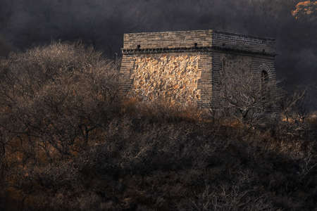 badaling:  Chinese Great Wall tower in Badaling.
