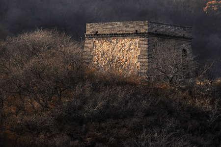 badaling: Grande Muraglia Cinese torre Badaling. Archivio Fotografico