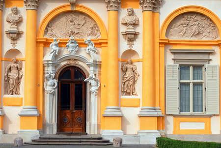 sobieski: Wilanow royal palace entrance in Warsaw Stock Photo