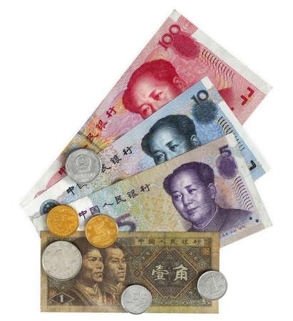 Yuan chino continental moneda y monedas