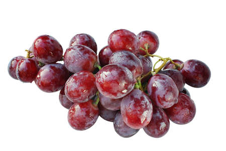 Red wet grapes.